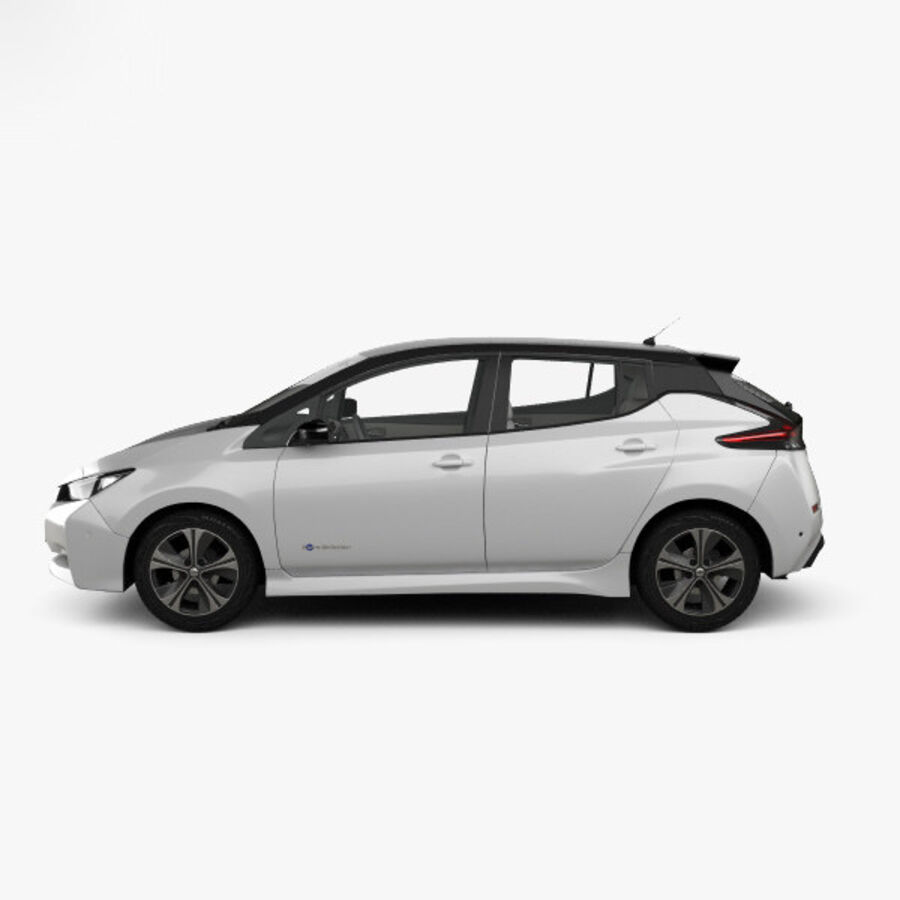 Nissan Leaf con interior HQ 2018 royalty-free modelo 3d - Preview no. 5