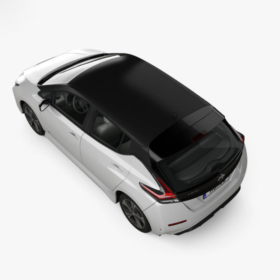 Nissan Leaf con interior HQ 2018 royalty-free modelo 3d - Preview no. 9