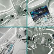 Futuristische Science-Fiction-Sammlung 3d model
