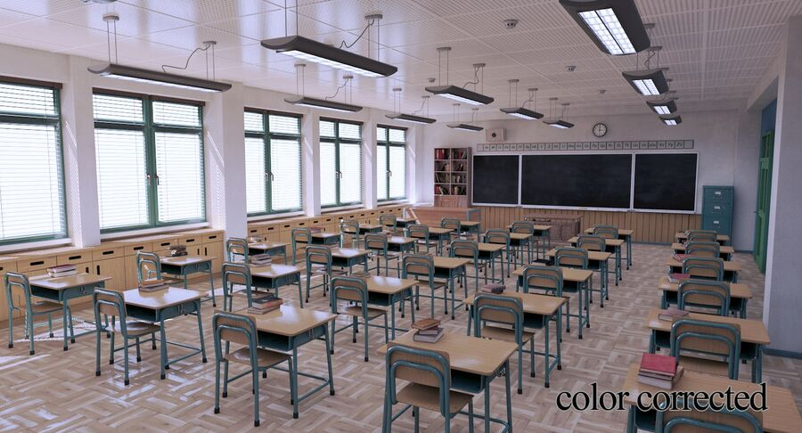 Aula royalty-free 3d model - Preview no. 33