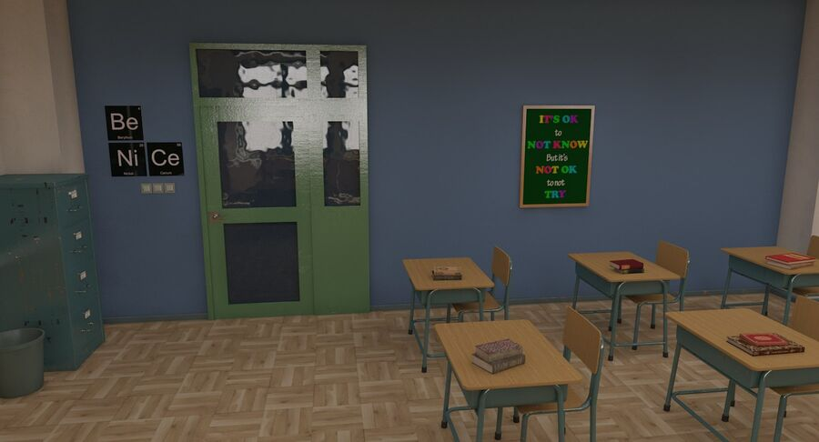 Aula royalty-free 3d model - Preview no. 12