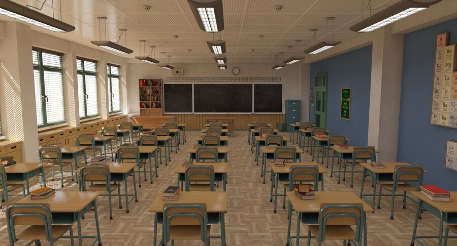 Aula royalty-free 3d model - Preview no. 6