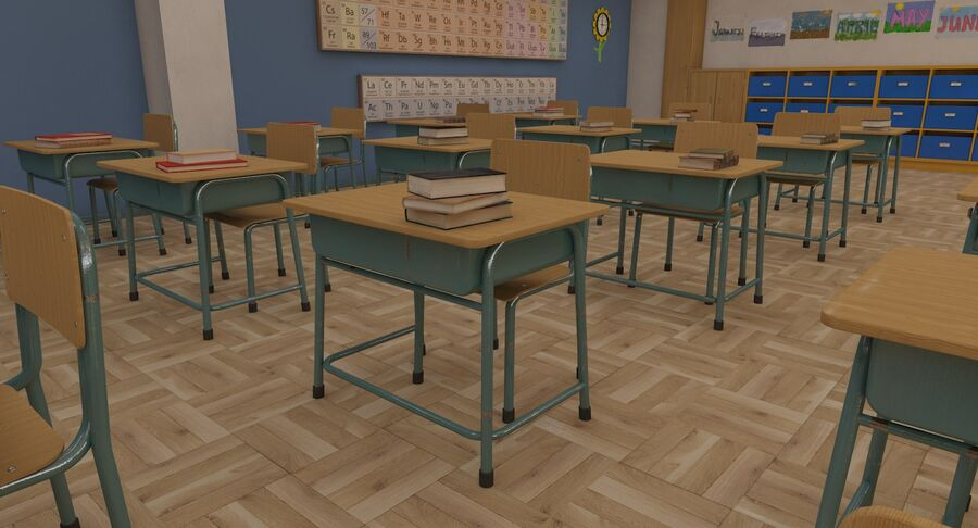 Aula royalty-free 3d model - Preview no. 25