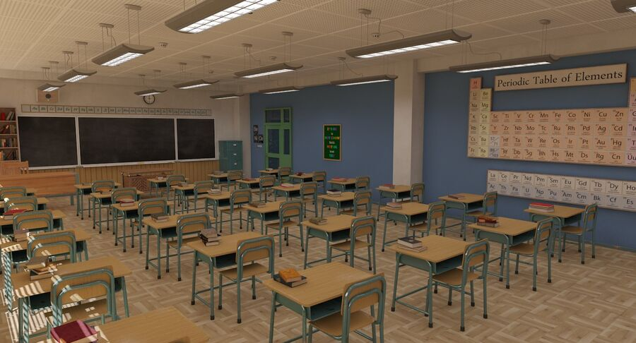 Aula royalty-free 3d model - Preview no. 5