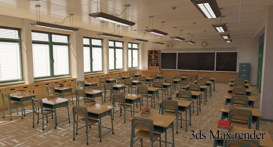 Aula royalty-free 3d model - Preview no. 29