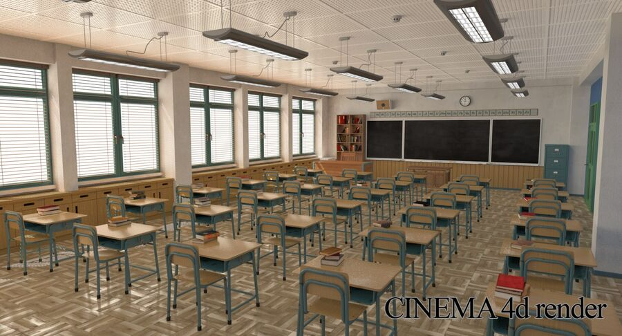 Aula royalty-free 3d model - Preview no. 30