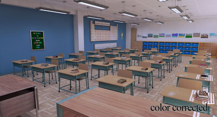 Aula royalty-free 3d model - Preview no. 35