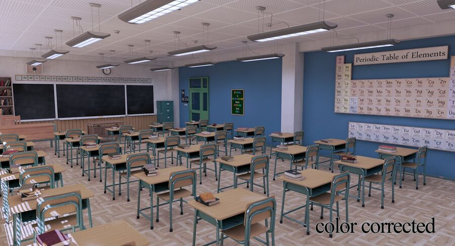 Aula royalty-free 3d model - Preview no. 36