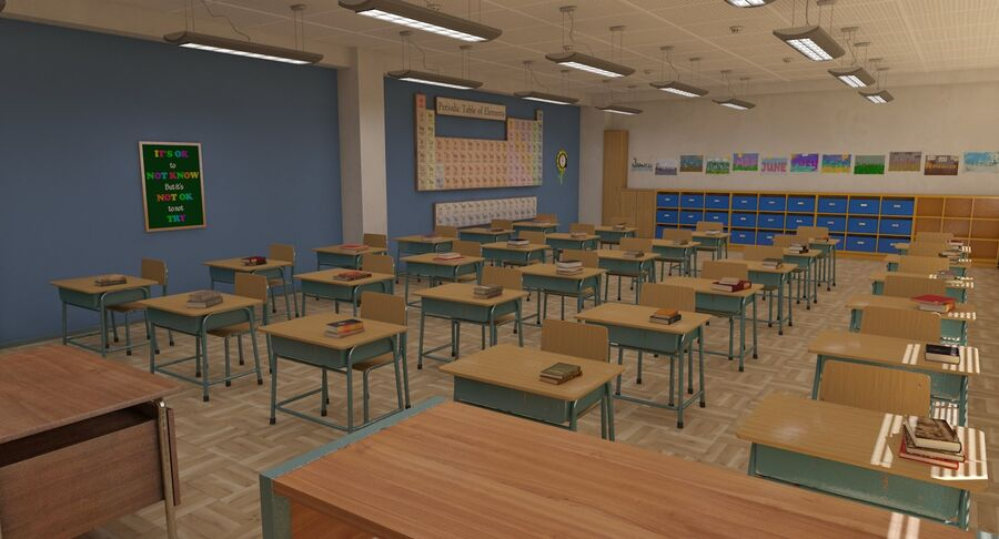 Aula royalty-free 3d model - Preview no. 4