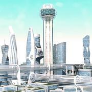 Miasto przyszłości 2 3d model