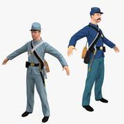 Civil War Solidiers Collection 3d model