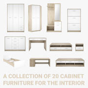 Collection of cabinet furniture 3d model