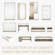 Collezione di mobili per mobili 3d model