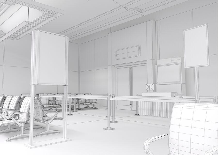 Luchthaven vertrek lounge interieur royalty-free 3d model - Preview no. 30