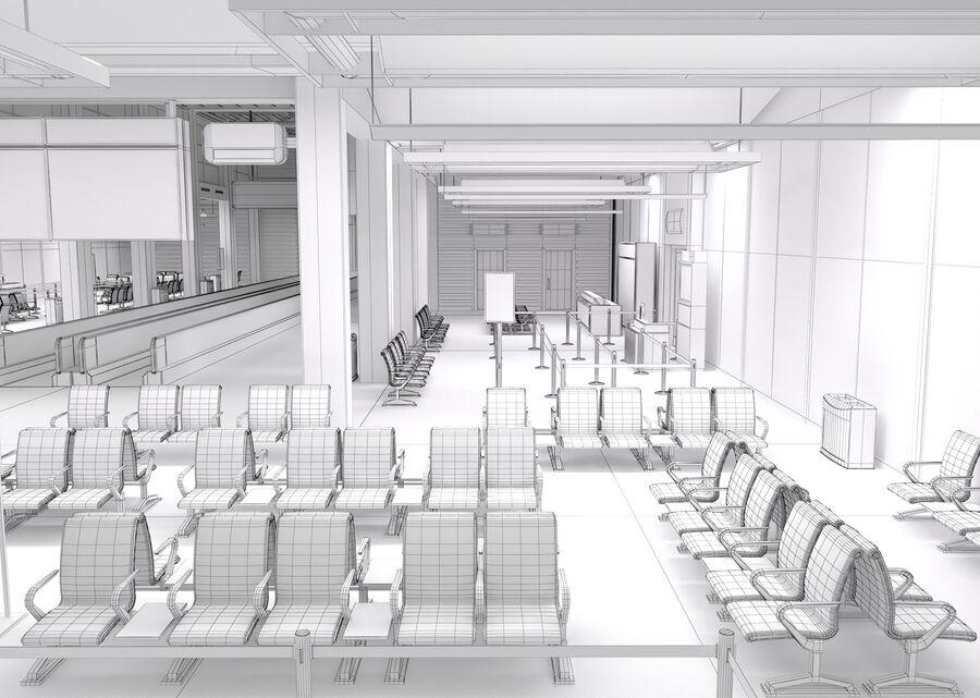 Luchthaven vertrek lounge interieur royalty-free 3d model - Preview no. 31