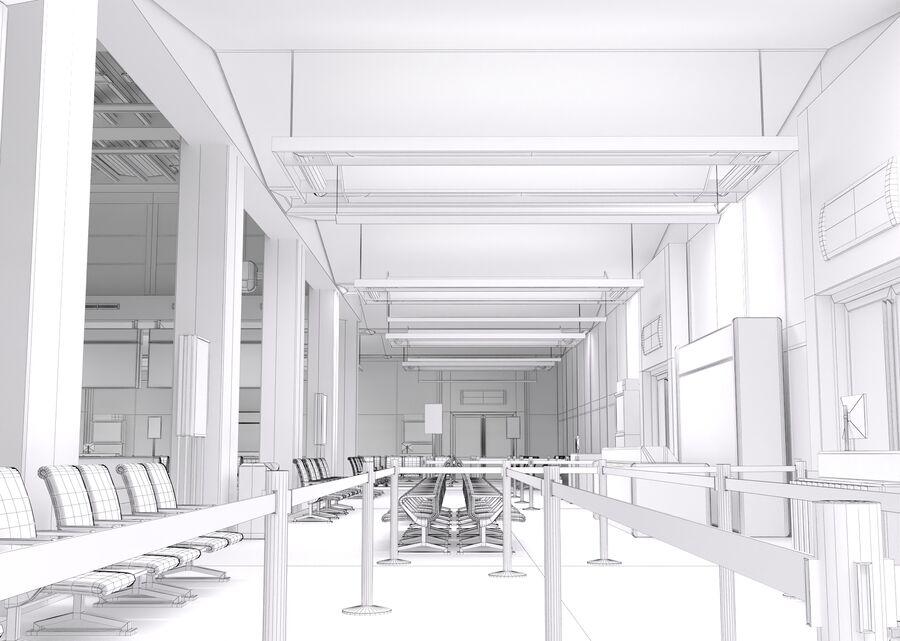 Luchthaven vertrek lounge interieur royalty-free 3d model - Preview no. 25