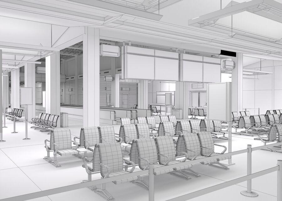 Luchthaven vertrek lounge interieur royalty-free 3d model - Preview no. 24
