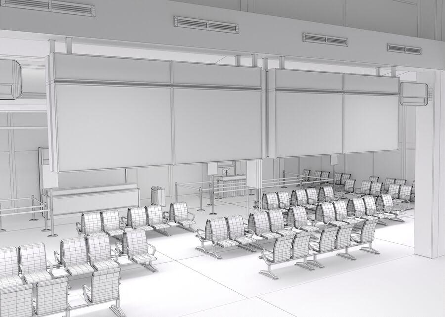 Luchthaven vertrek lounge interieur royalty-free 3d model - Preview no. 27