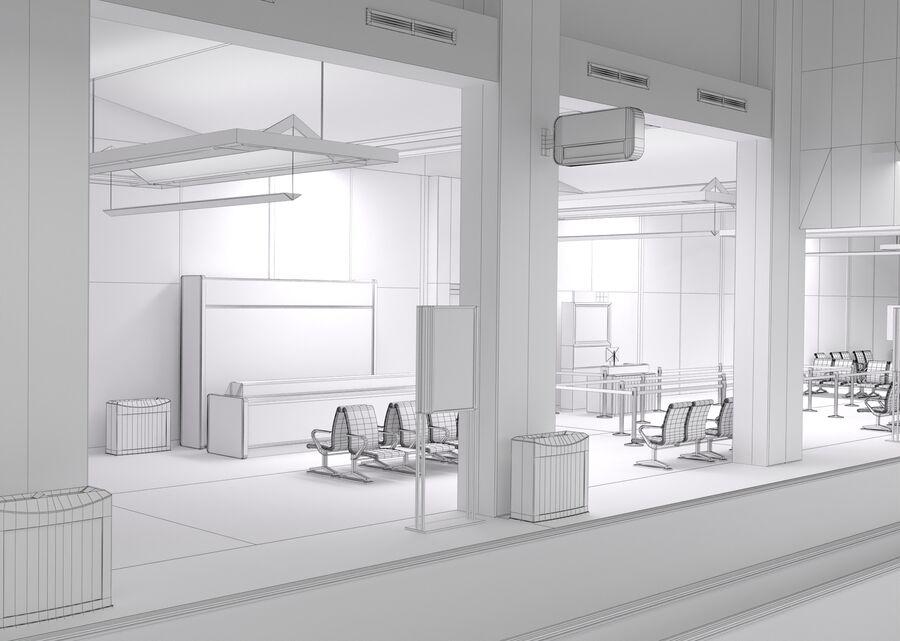 Luchthaven vertrek lounge interieur royalty-free 3d model - Preview no. 23