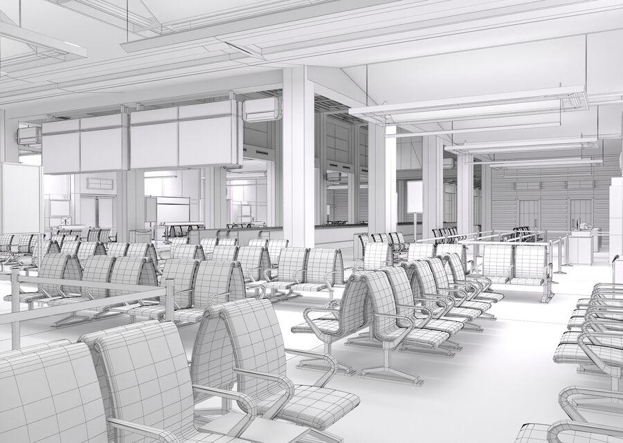 Luchthaven vertrek lounge interieur royalty-free 3d model - Preview no. 29