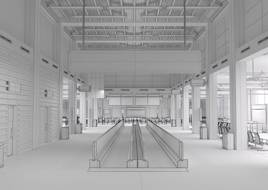 Luchthaven vertrek lounge interieur royalty-free 3d model - Preview no. 21