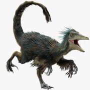 Raptor (Fur) (Rigged) 3d model