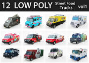 低聚街头食品卡车 3d model
