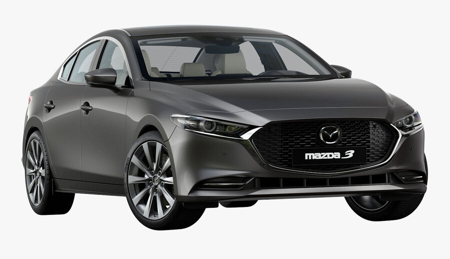 2019 Mazda 3 Limousine royalty-free 3d model - Preview no. 2