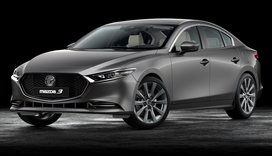 2019 Mazda 3 Limousine royalty-free 3d model - Preview no. 5