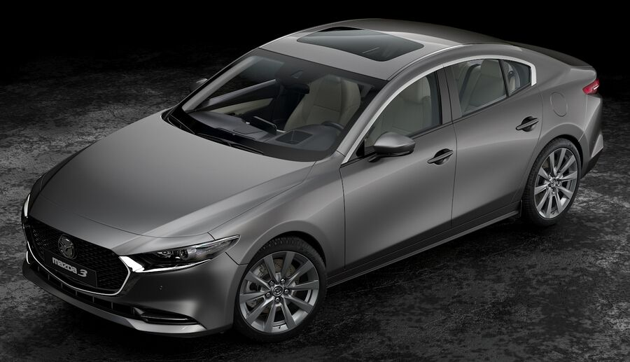 2019 Mazda 3 Limousine royalty-free 3d model - Preview no. 7