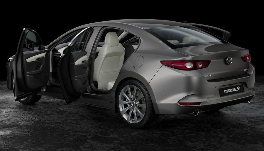 2019 Mazda 3 Limousine royalty-free 3d model - Preview no. 10