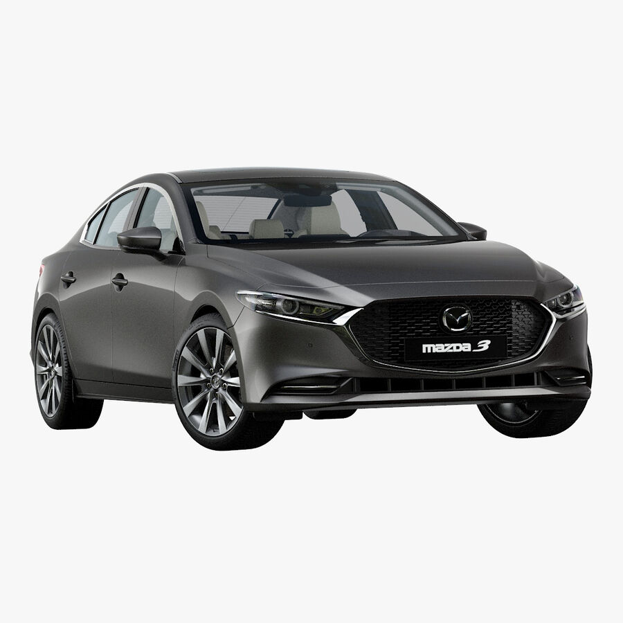 2019 Mazda 3 Limousine royalty-free 3d model - Preview no. 1