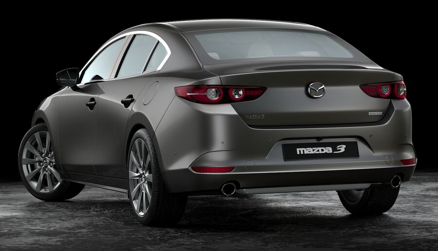 2019 Mazda 3 Limousine royalty-free 3d model - Preview no. 4