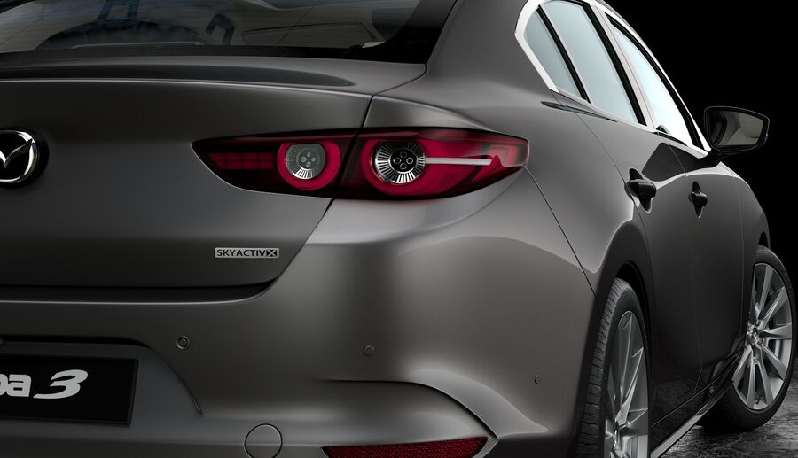 2019 Mazda 3 Limousine royalty-free 3d model - Preview no. 9