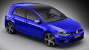 Volkswagen Golf 7 R Facelift 2017 3d model