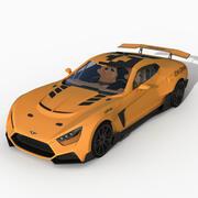 フランカーFドリフトカー 3d model