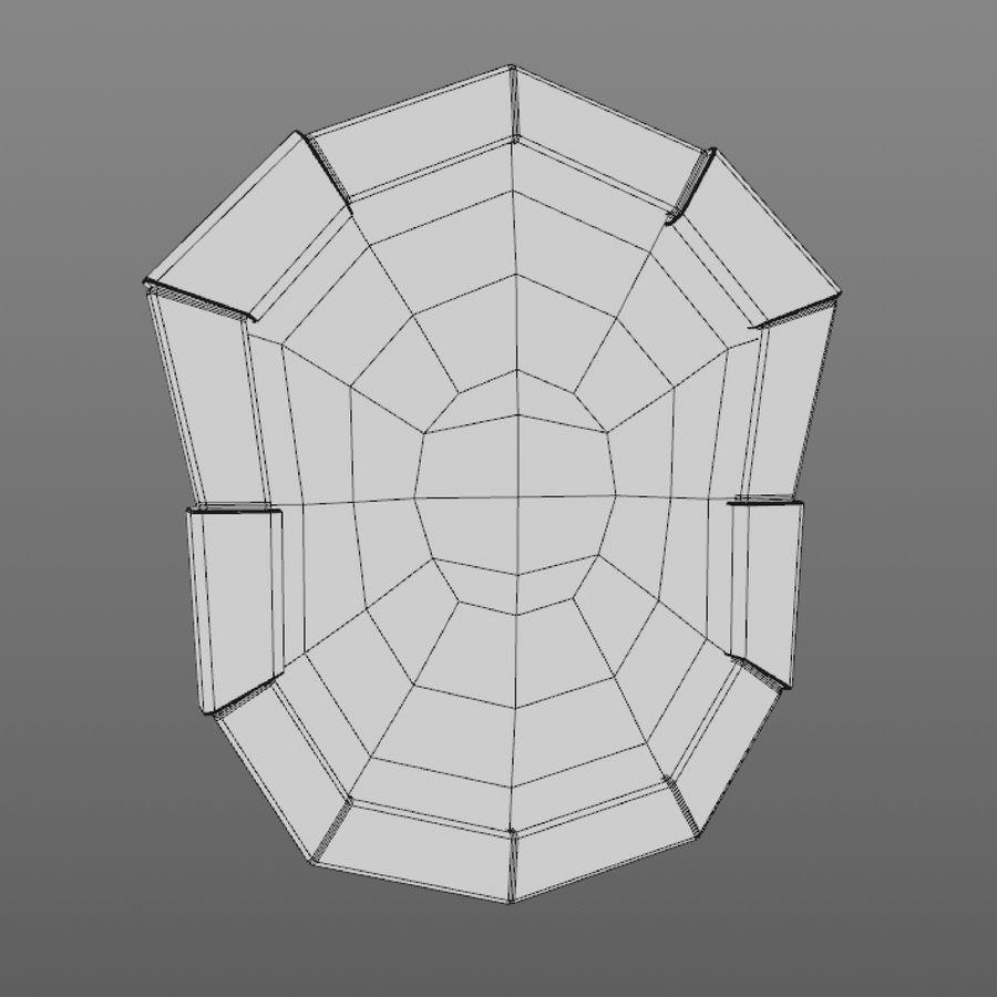 만화 방패 royalty-free 3d model - Preview no. 10