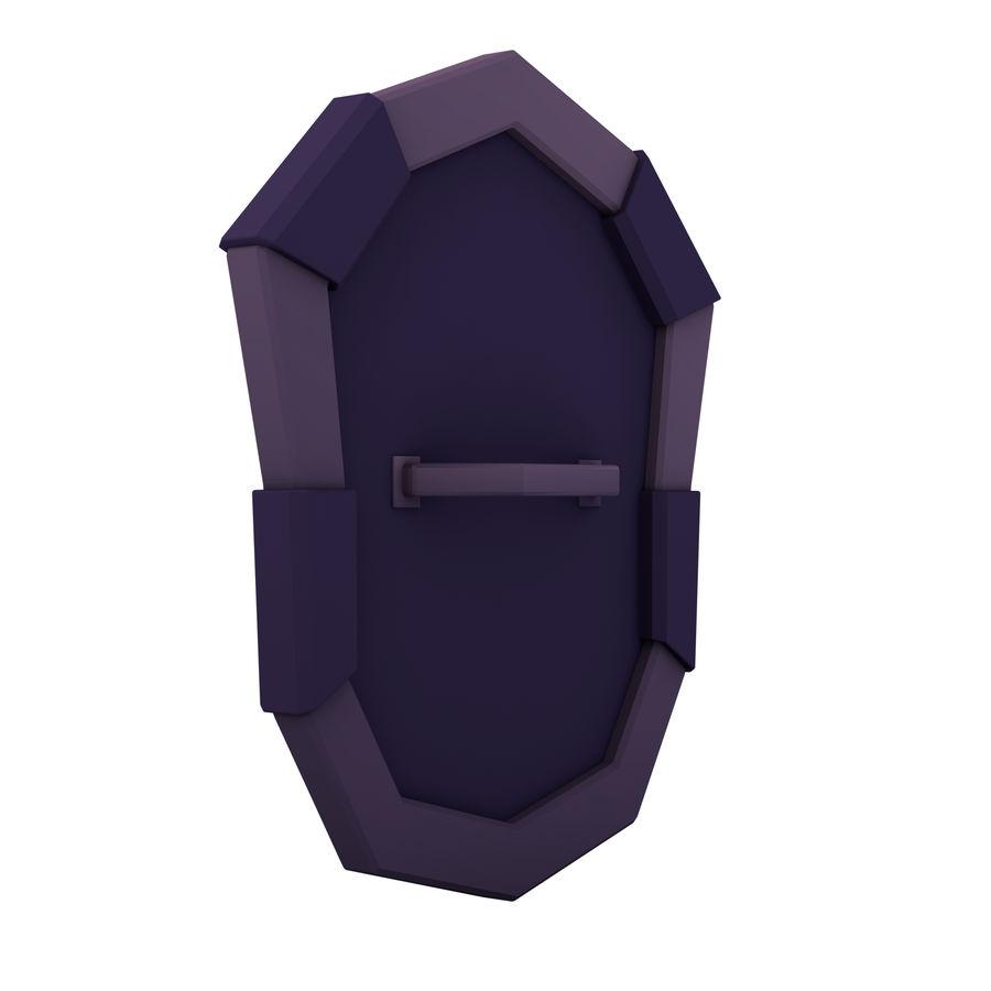 만화 방패 royalty-free 3d model - Preview no. 7