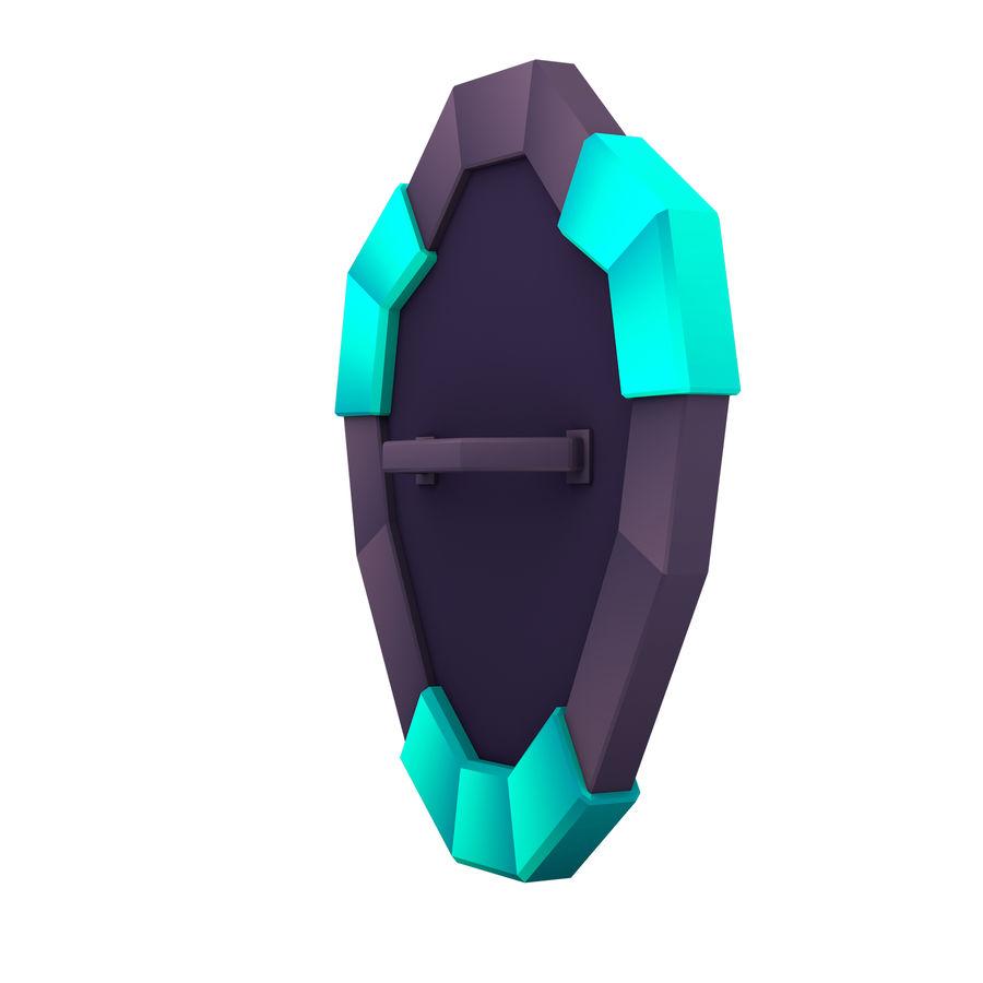 만화 방패 royalty-free 3d model - Preview no. 5