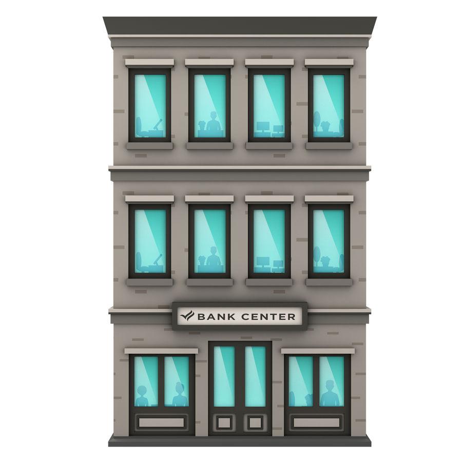 Cartoon Bank Building 3d Model 6 C4d Free3d
