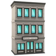 Cartoon Bank Building 3d model