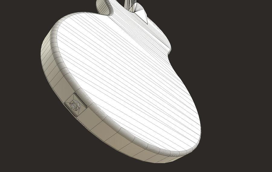 Elektrisk gitarr (PBR) royalty-free 3d model - Preview no. 14