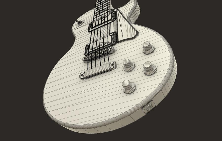 Elektrisk gitarr (PBR) royalty-free 3d model - Preview no. 3