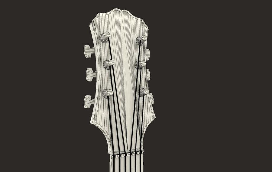 Elektrisk gitarr (PBR) royalty-free 3d model - Preview no. 8