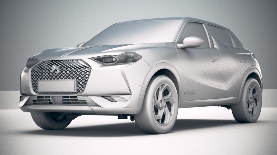 DS3 Crossback 2019 royalty-free 3d model - Preview no. 23
