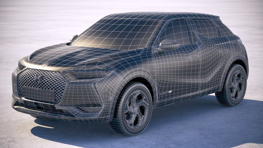 DS3 Crossback 2019 royalty-free 3d model - Preview no. 28