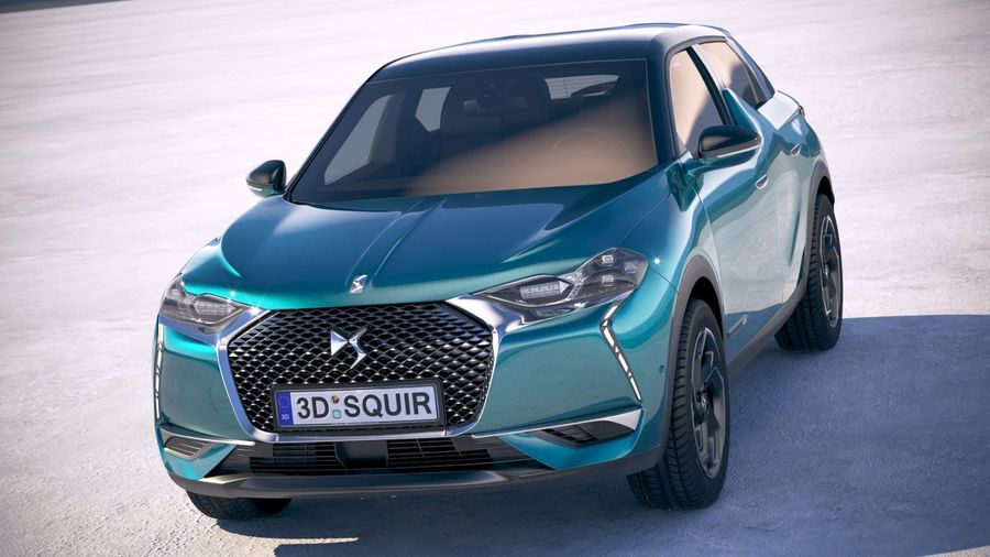 DS3 Crossback 2019 royalty-free 3d model - Preview no. 2