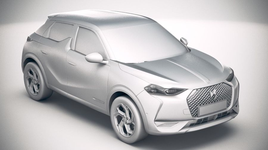 DS3 Crossback 2019 royalty-free 3d model - Preview no. 22