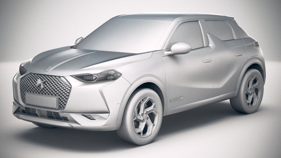 DS3 Crossback 2019 royalty-free 3d model - Preview no. 18