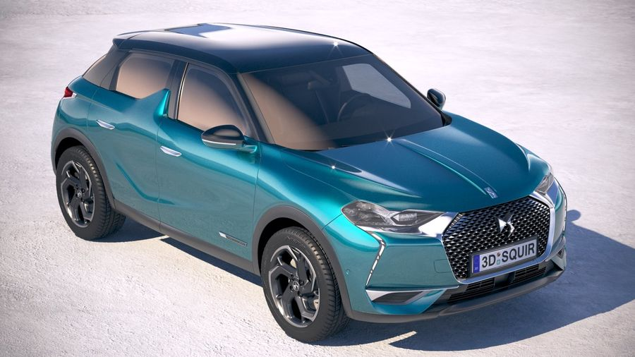 DS3 Crossback 2019 royalty-free 3d model - Preview no. 12